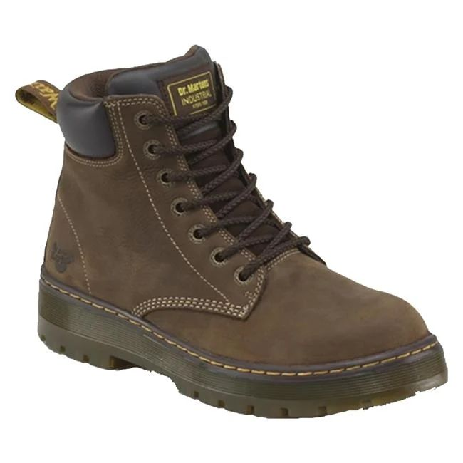 Dr. Martens Winch Dark Brown Steel Toe Boots