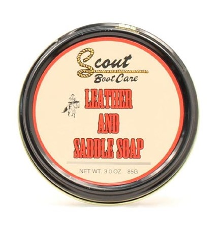 Scout Boot Care 3 Oz Natural Leather and Saddle Soap -Leather Care and Cleaning