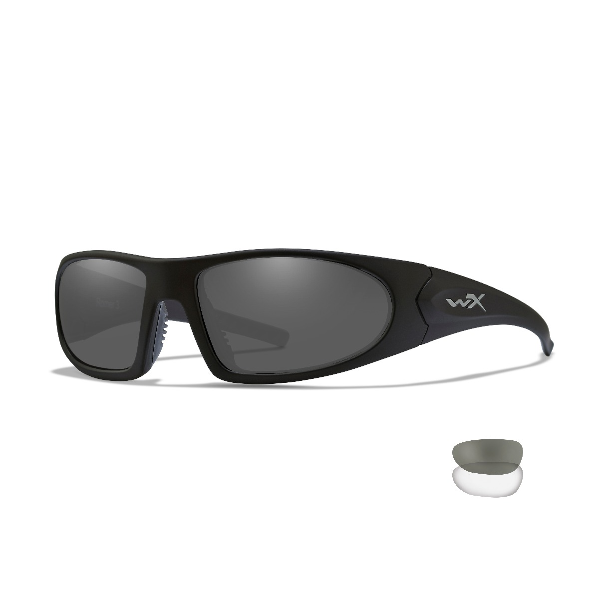 WILEY X Romer 3 Sunglasses - Smoke Grey/clear Lens - Matte Black Frame