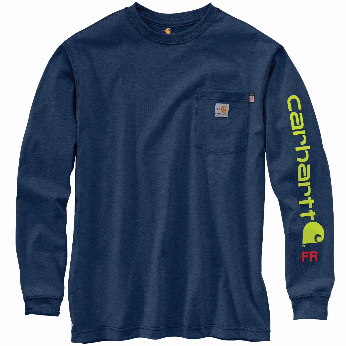 Carhartt FR Force Original Fit Midweight Long-Sleeve Signature Logo T-Shirt