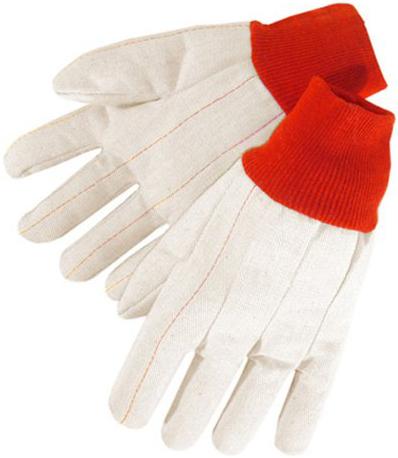 Double Palm Canvas Red Knit Wrist 18oz L 12pk