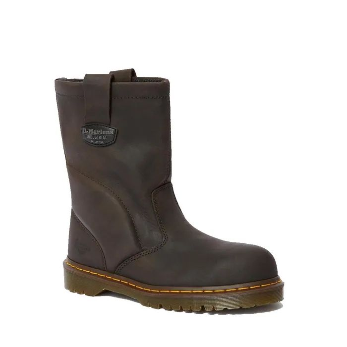Dr. Martens Extra Wide Leather Steel Toe Work Boot
