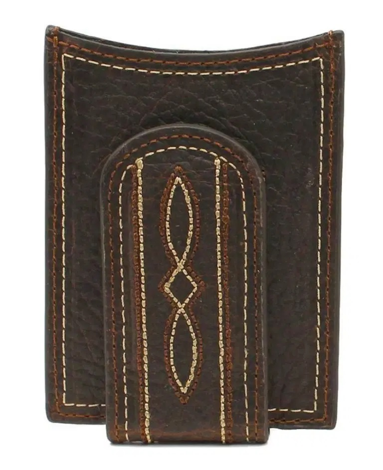ARIAT Western Mens Money Clip Leather Boot Stitch Brown
