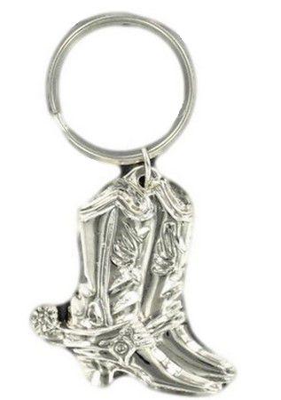 M&F Western Products Silver Cowboy Boot Keychain
