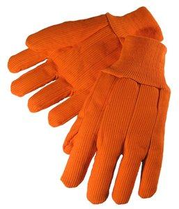 Corduroy Double Palm Fluorescent Orange 20oz Glove L 12PK