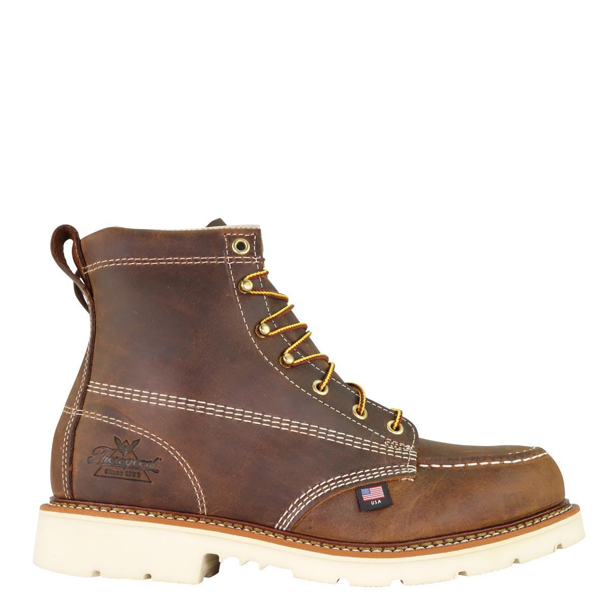 Thorogood American Heritage – 6″ Trail Crazyhorse Safety Toe – Moc Toe MAXWear 90™