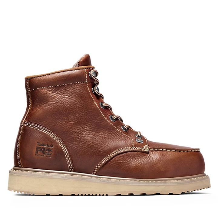 """Timberland PRO 6"""" Barstow Wedge Boot Moc Alloy Safety Toe"""