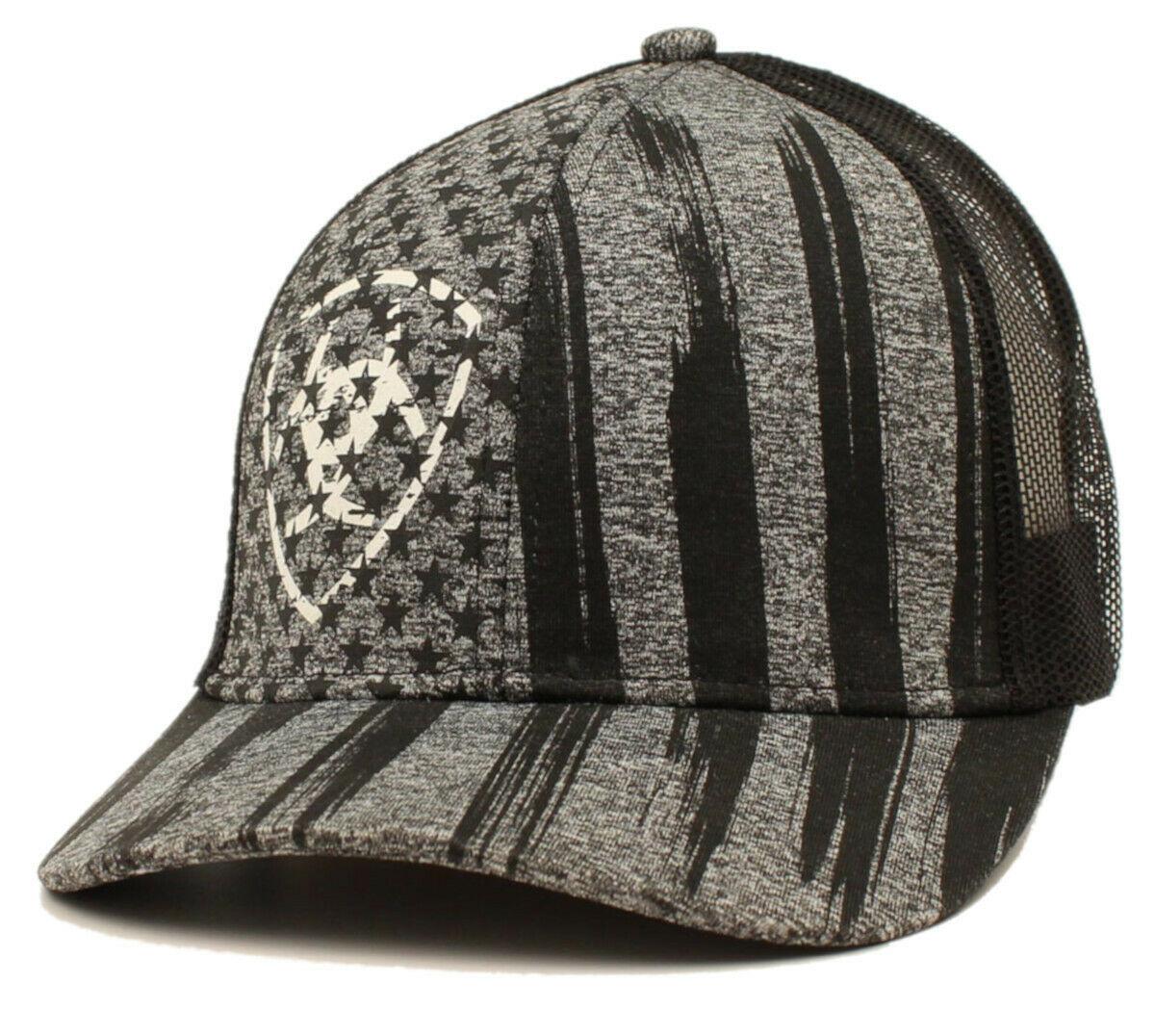 Ariat Snap Hat Stars Black/Grey/White