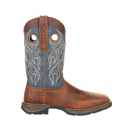 Rebel by Durango Steel Toe Pull-on Western Blue Top Boot