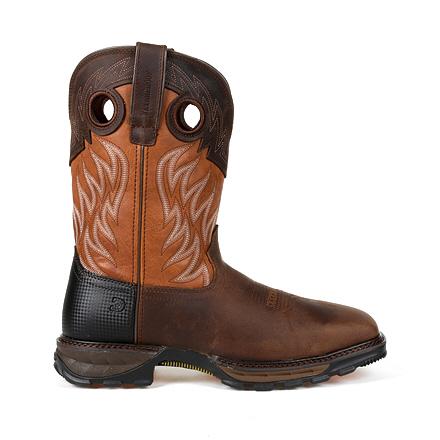 Durango Maverick XP Steel Toe Waterproof Western Orange Top Work Boot
