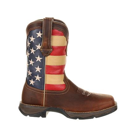 Lady Rebel by Durango Steel Toe Patriotic Flag Work Boot