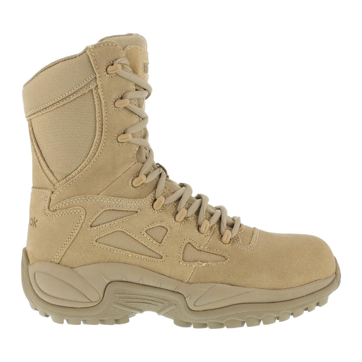 "Reebok Rapid Response Men's 8"" Stealth Boot with Side Zipper - Desert Tan"