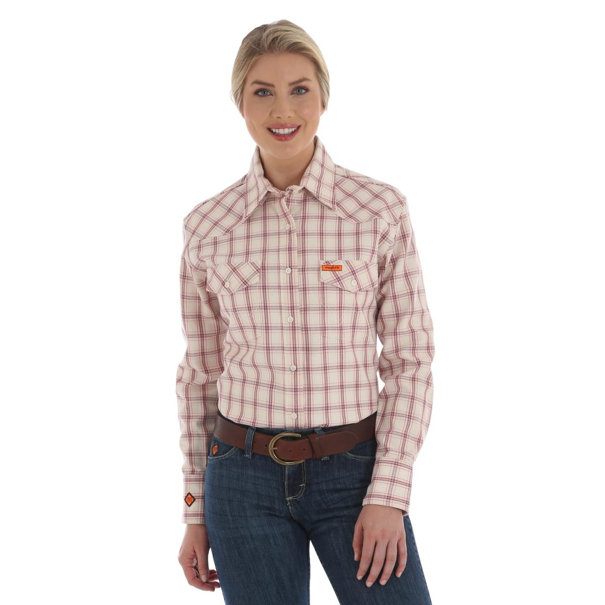 Wrangler FR Women's Plaid Shirt