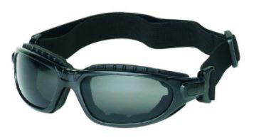 iNox 1770 Challenger Gray Anti-Fog Lens with Black Frame Safety Glasses