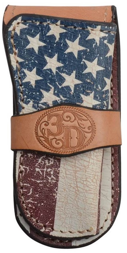 3D USA Flag Medium Knife Sheath