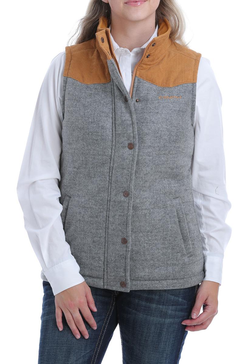 Cinch Women's Tweed Vest OW20 - GRY