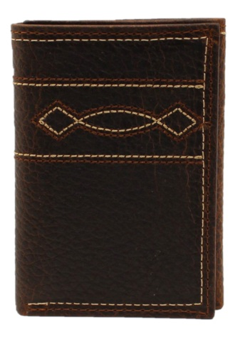 ARIAT Men's Western Boot Stitch Trifold Wallet
