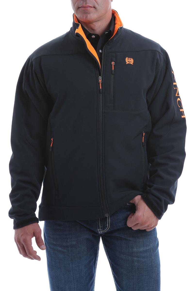 Cinch Men's Solid Bonded Jacket OW20 - BLK/ORG