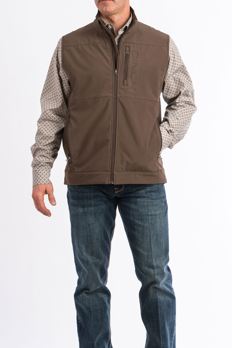 Cinch Men's Windproof Vest 10/19 II - Brn