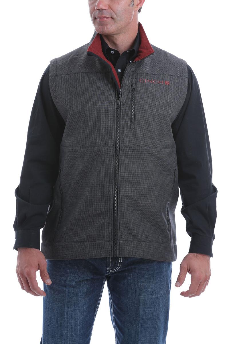 Cinch Men's Textured Bonded Vest OW20 - CHR