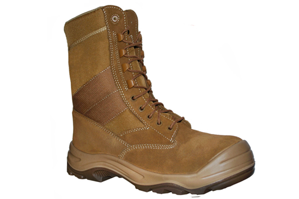 Work Zone Composite Toe Suede Leather/Cordura Coyote Work Boot