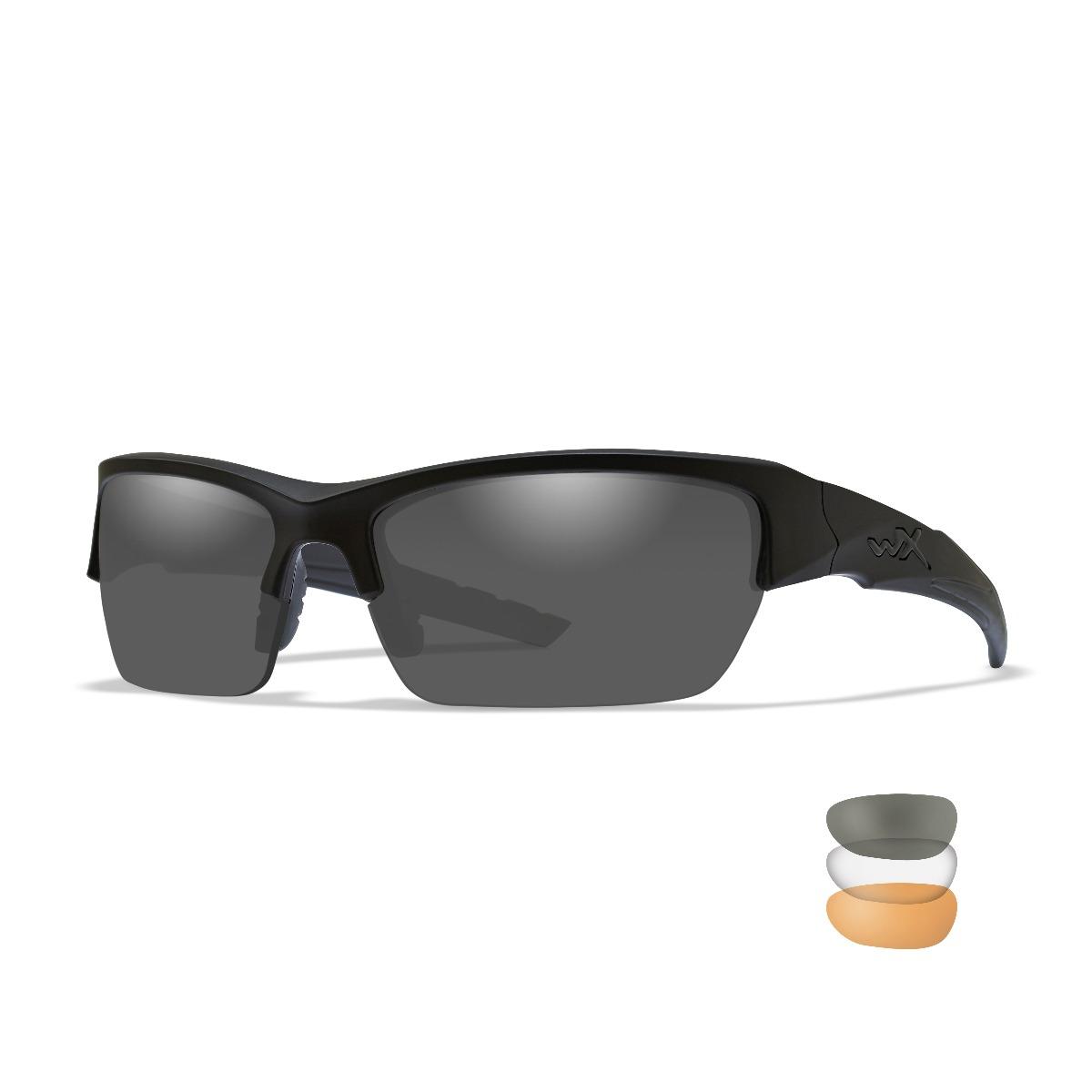 WILEY X Eyewear Valor Safety Glasses Kit Matte Black Frame