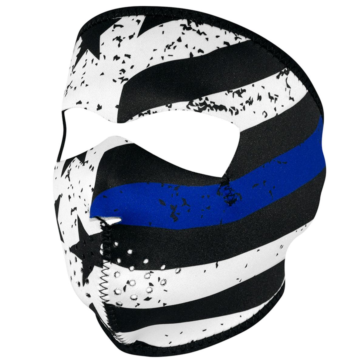 ZAN Full Mask Neoprene Thin Blue Line