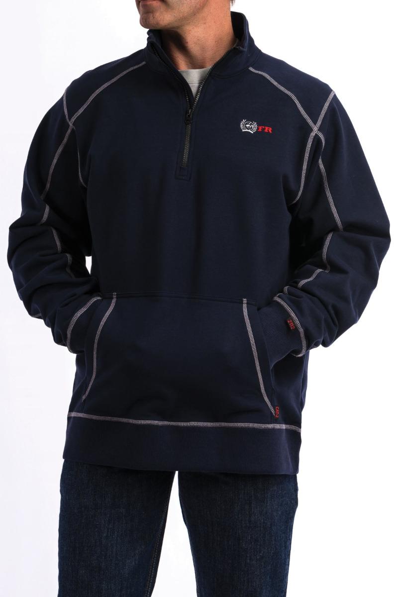 Cinch Men's FR 1/4 Zip Pullover 9/18 - NAV